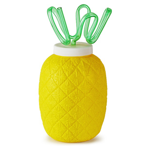 Plastic Pineapple Cup with Krazy Straw 26.4oz / 750ml