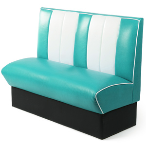 Retro Diner Booth Double Seat Duck Egg Blue (Single)