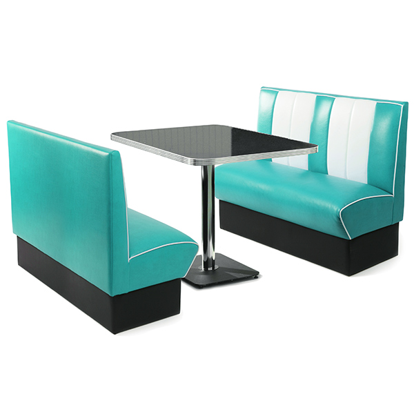 Retro Diner Booth Set Duck Egg Blue Diner Seating Retro