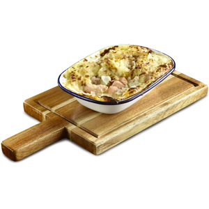 Genware Acacia Wood Serving Board 35 x 18cm