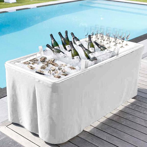 Linus 79cm White Marble Coffee Table: Ice Table White 186 X 79cm