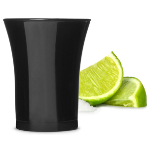 Econ Black Polystyrene Shot Glasses CE 0.9oz  25ml (Case of 100)