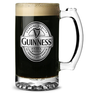 Guinness Tankard with Pewter Logo 17.6oz / 500ml