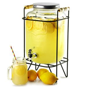 Yorkshire Mason Jar Drinks Dispenser with Stand 8ltr