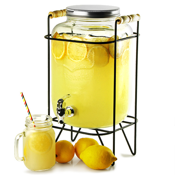 Yorkshire Mason Jar Drinks Dispenser With Stand