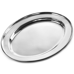 Stainless Steel Oval Meat Flat 250mm