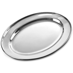 Stainless Steel Oval Meat Flat 400mm