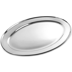 Stainless Steel Oval Meat Flat 550mm