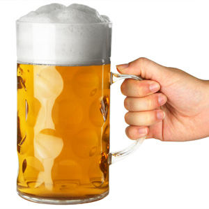 Plastic Beer Stein CE Lined at 2 Pints