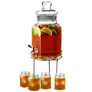 Hexagonal Drinks Dispenser with Hexagonal Tumblers