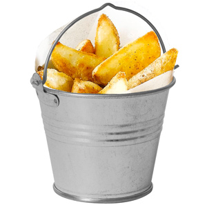 Genware Galvanised Steel Serving Buckets 8.5cm
