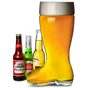 Giant Glass Beer Boot 5 Pint / 3ltr