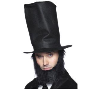 Abraham Lincoln Felt Hat And Beard