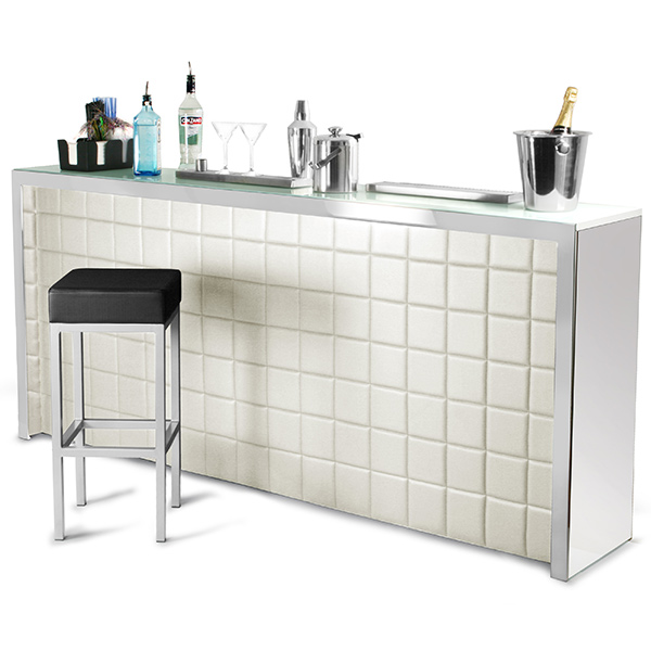 Home Bar Counter: Hollywood Home Bar Large Cream