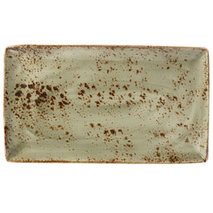 Steelite Craft Rectangular Platter Green 33 x 19cm