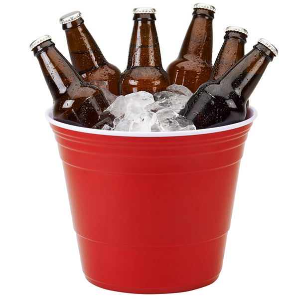 Red Cup Party Bucket 5 9ltr Drinkstuff