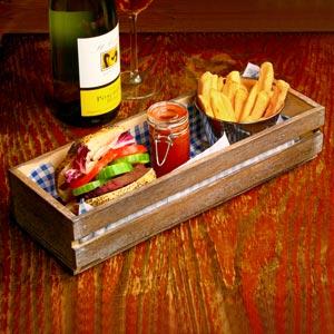Wooden Food Presentation Crate 34 x 12 x 7cm