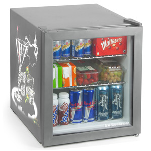 Custom Printed Frostbite Mini Fridge 49ltr Silver