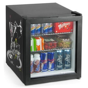 Custom Printed Frostbite Mini Fridge 49ltr Black