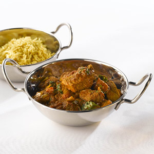 Stainless Steel Balti Dish with Handles 15cm