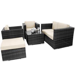 ES 5 Piece Outdoor Sofa Suite Black
