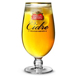 Stella Artois Cidre Chalice Pint Glasses CE 20oz  568ml (Set of 4)