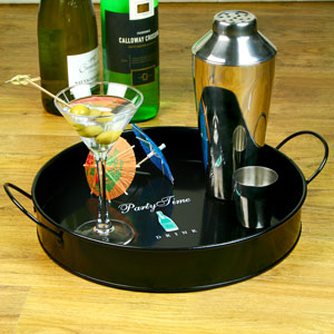 Party Time Drinks Tray 12inch