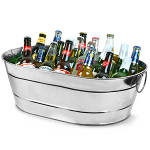 Galvanised Steel Oval Party Tub Large