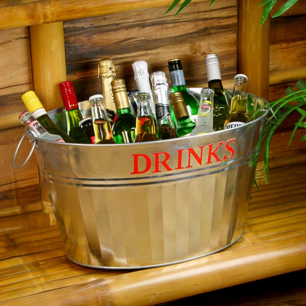 Galvanised Steel Drinks Party Tub - Vintage Drinks Service