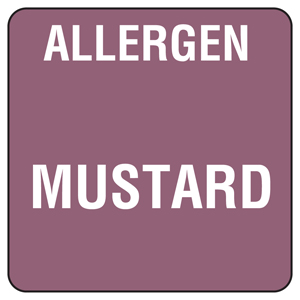 Food Allergen Labels Mustard