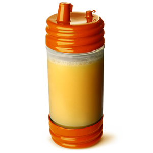 SaferFood Solutions PourMaster with Low Profile Top Orange