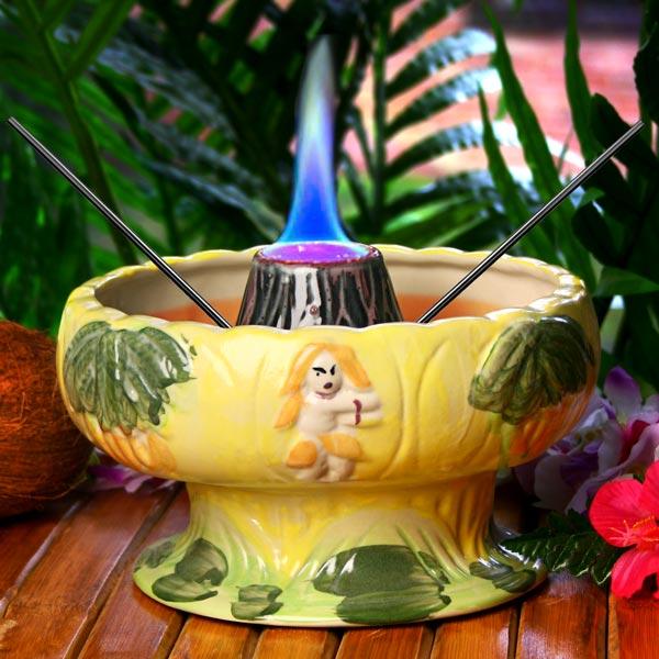 Flaming Volcano Bowl 48oz 1 36ltr Drinkstuff