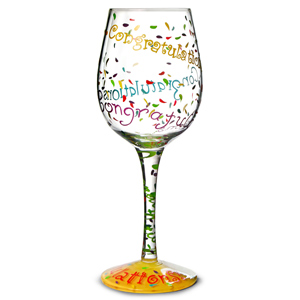 Lolita Congratulations Wine Glass 15.5oz / 440ml