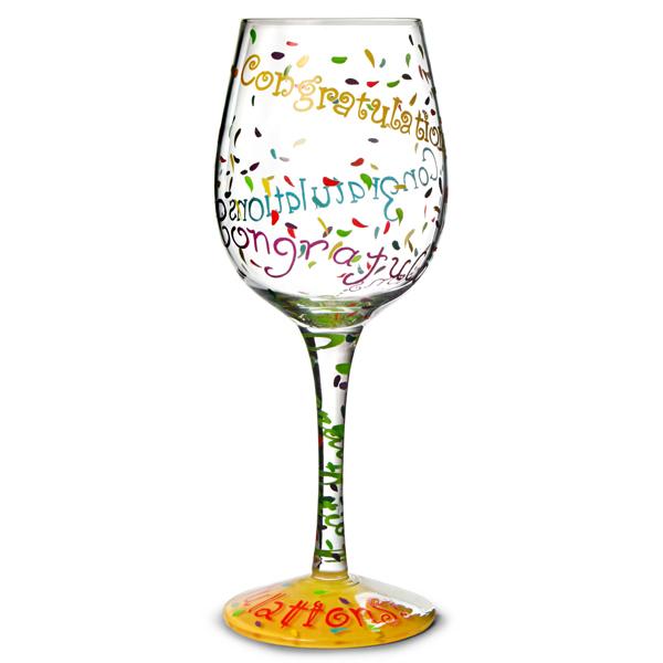Lolita Congratulations Wine Glass 15 5oz 440ml