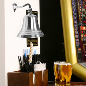Chrome Last Orders Bell Large 7inch / 180mm