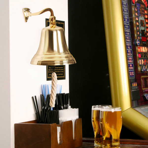 Brass Last Orders Bell Large 7inch / 180mm | Pub Bell Ships Bell Wall Bell - Buy at Drinkstuff