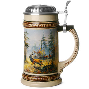 Muhleck Wild Stag Ceramic Beer Stein 17.6oz / 500ml