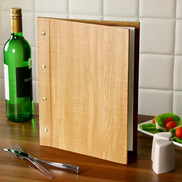 Wood Effect Menu Cover A4 Pine Menu Holder Menu Folder