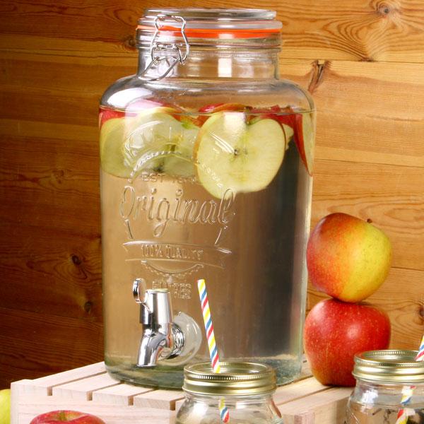 8 Litres Kilner Garden Party Glass Water /& Punch Drinks Dispenser