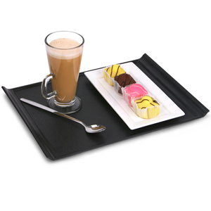 Luna Black Plastic Serving Tray 35 x 25cm