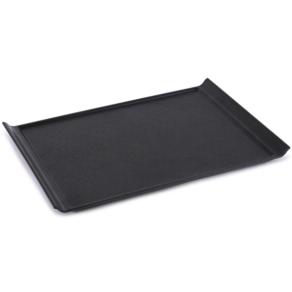 luna black plastic serving tray 35 x 25cm at drinkstuff. Black Bedroom Furniture Sets. Home Design Ideas