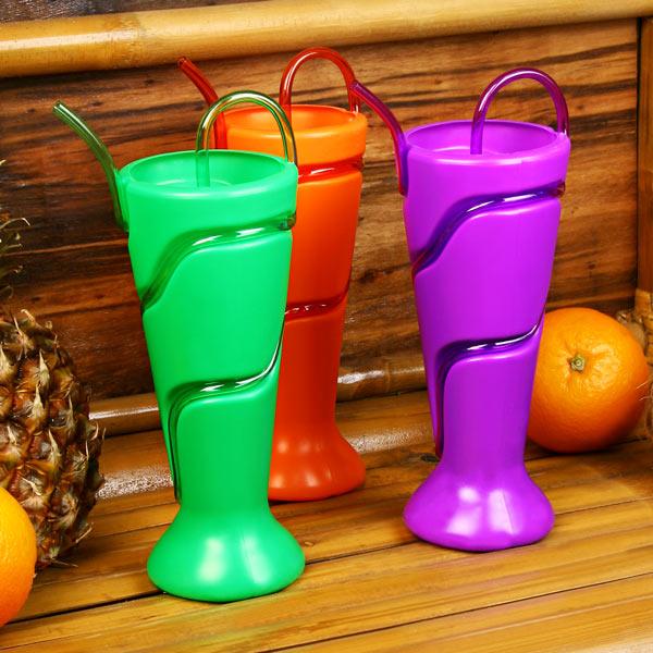 9940ac0bc Plastic Soda Fountain Milkshake Cup with Krazy Straw 18oz   530ml ...