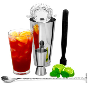 Boston Cocktail Shaker Set with Jigger Measure