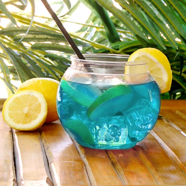 Drinks orb beverage dispenser fish bowl set cocktail for Restaurants with fish bowl drinks near me