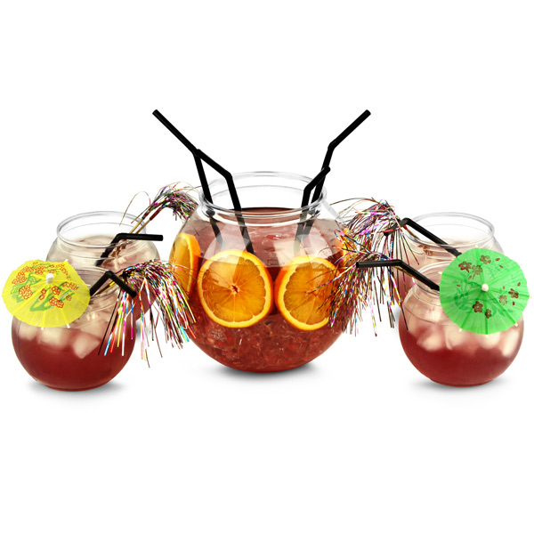 Fish bowl cocktail party set cocktail starter set for Restaurants with fish bowl drinks near me