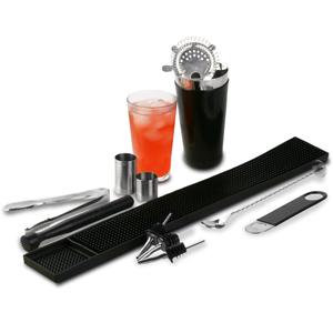 Black Vinyl Boston Cocktail Shaker Set