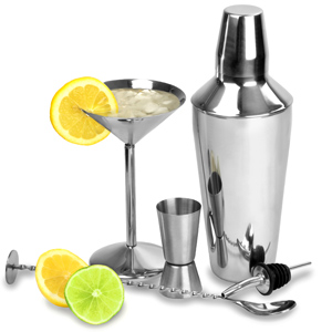 Martini Shaken Not Stirred Cocktail Set