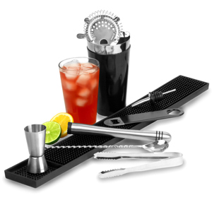 Black Cocktail Shaker Set