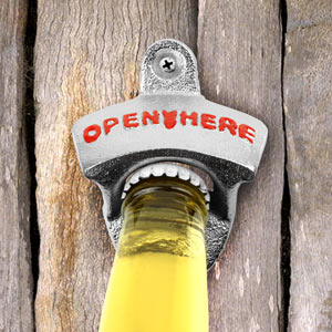 Image of Wall Mounted Zinc Bottle Opener