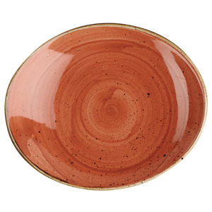 "Churchill Stonecast Spiced Orange Oval Coupe Plate 7.75"" / 19.2cm"